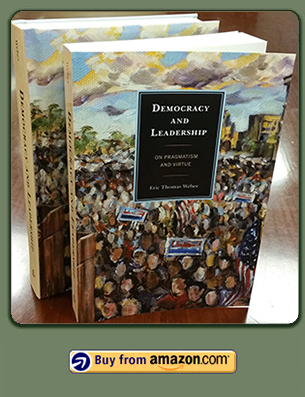 Photo of the cover of Democracy and Leadership, with a link to the book on Amazon.com.