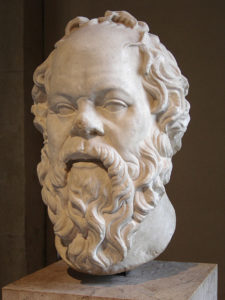 Bust of Socrates.
