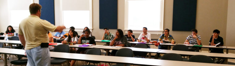 June 2015 meeting with Grisham Scholars, visiting from Dallas, TX's Uplift Education charter schools.
