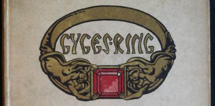 This is the full size of the image of the cover of Gyges' Ring, featuring a gold band with a red jewel.