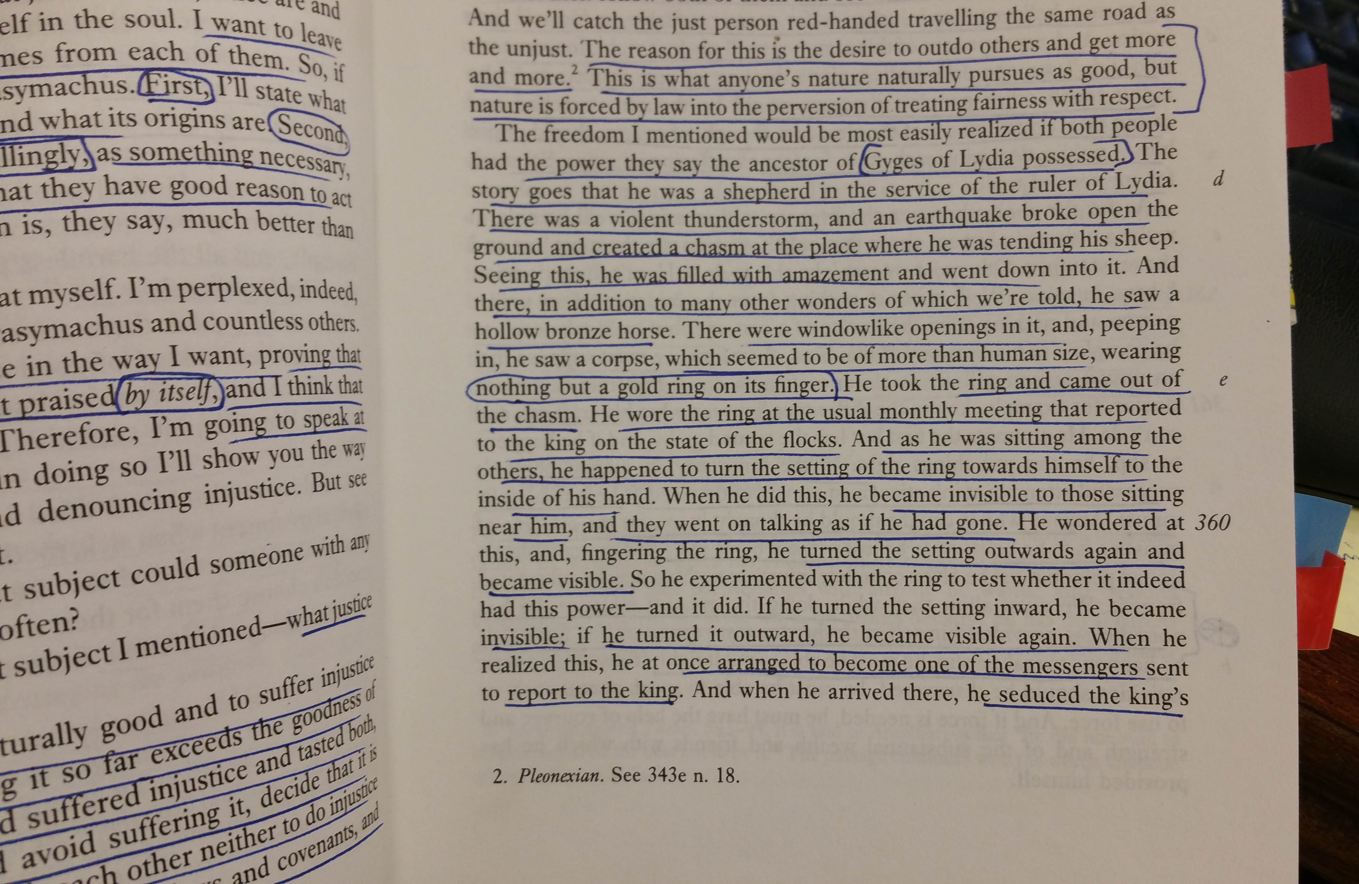 the ring of gyges plato essay