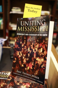 Daniel Perea took these photos at my book signing for 'Uniting Mississippi,' held at Square Books.