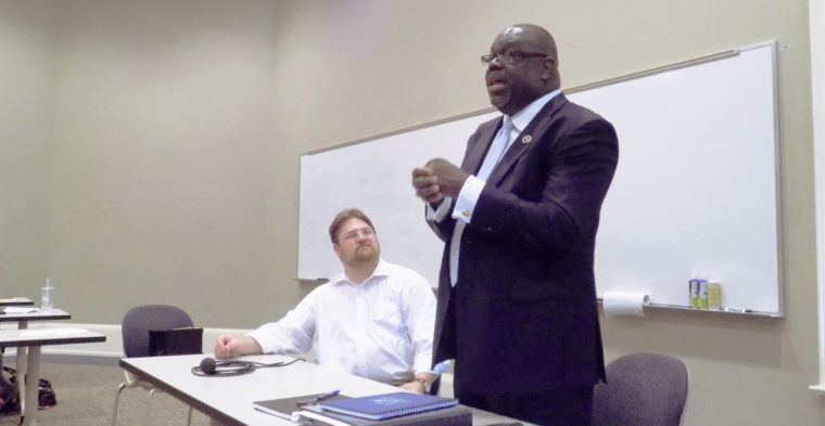Judge Carlton Reeves, photo by Lyndy Berryhill of the Oxford Eagle, 2015.