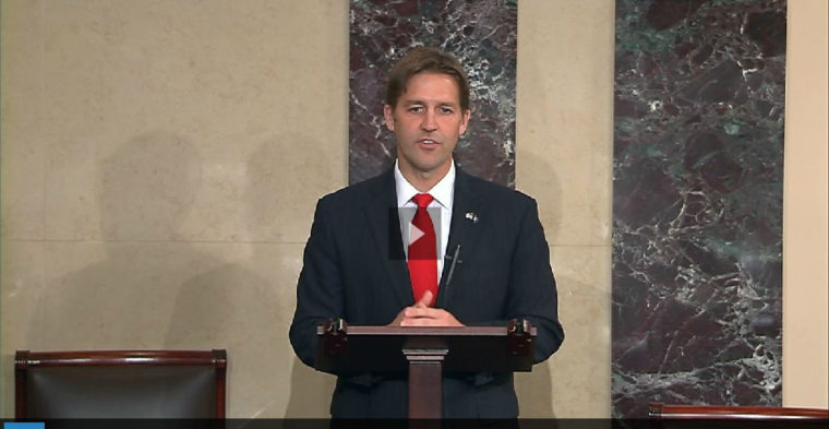 Senator Ben Sasse. Link goes to the video of his maiden speech in the Senate.