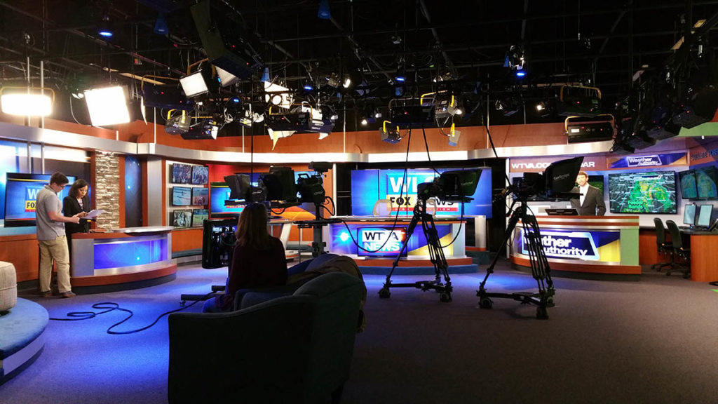 Photos from the WLOV TV studio in Tupelo, MS.