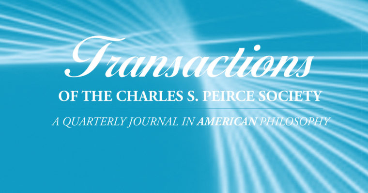 Photo of the cover of the Transactions of the Charles S. Peirce Society.