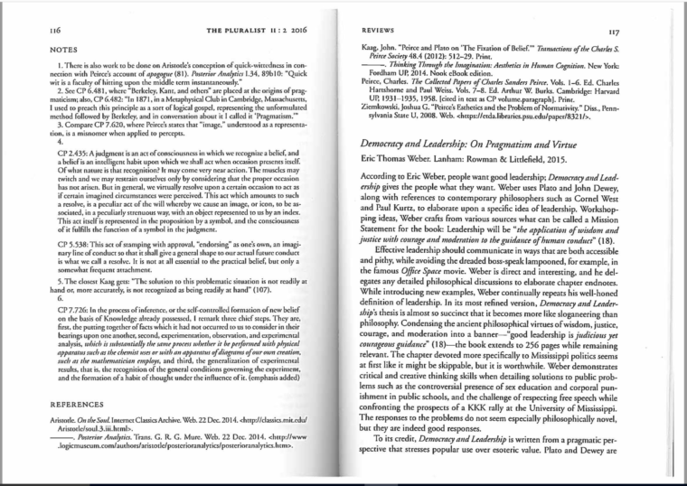 Image of Ruetenik's review of 'Democracy and Leadership.' The link opens a PDF version of the review.
