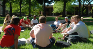 Photo with students at the University of Mississippi.