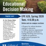 Thumbnail image of a flyer for EPE 628. Clicking on this image opens a PDF of the flyer, which is text searchable.